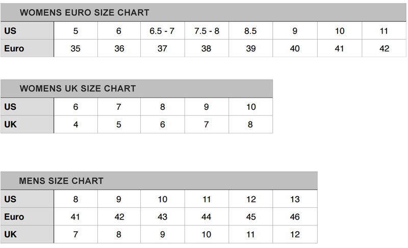 Liebeskind Shoes Size Chart